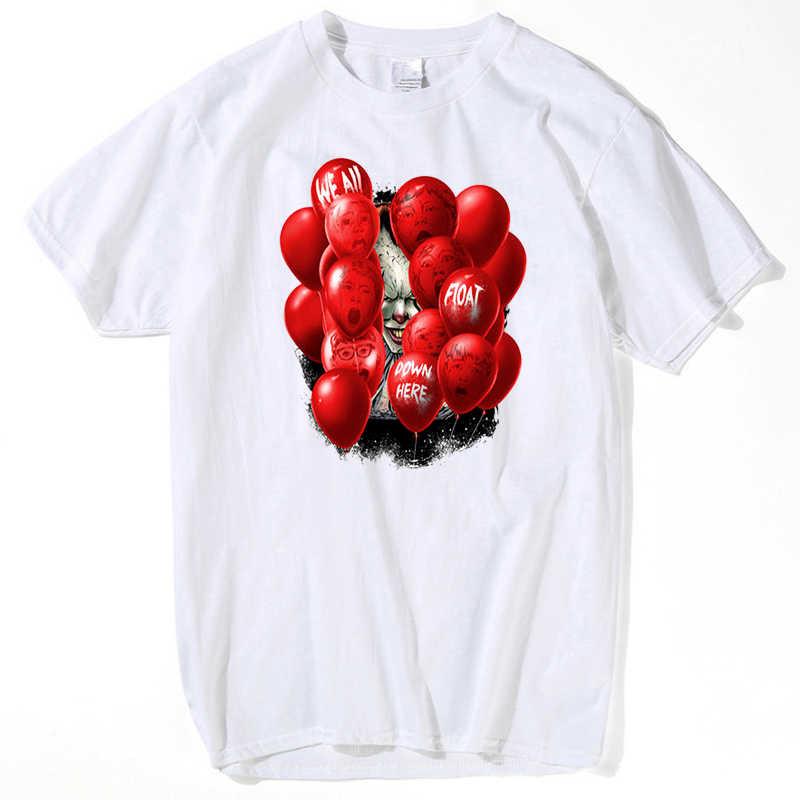 2018 футболка из фильма «IT Movie» Мужская футболка с длинными рукавами с принтом Стивен Кинг, топы на заказ, костюм клоуна, футболка, одежда