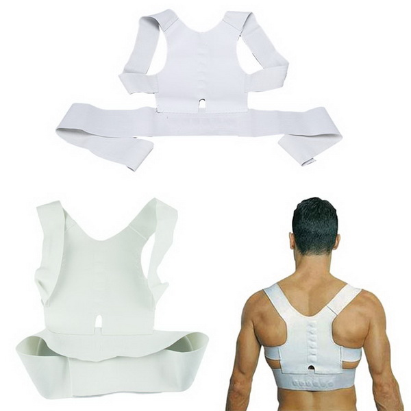 by DHL or EMS 50pcs Magnetic Therapy Posture Pain Corrector Body Back Belt Brace Shoulder Support Free Shipping 1001079