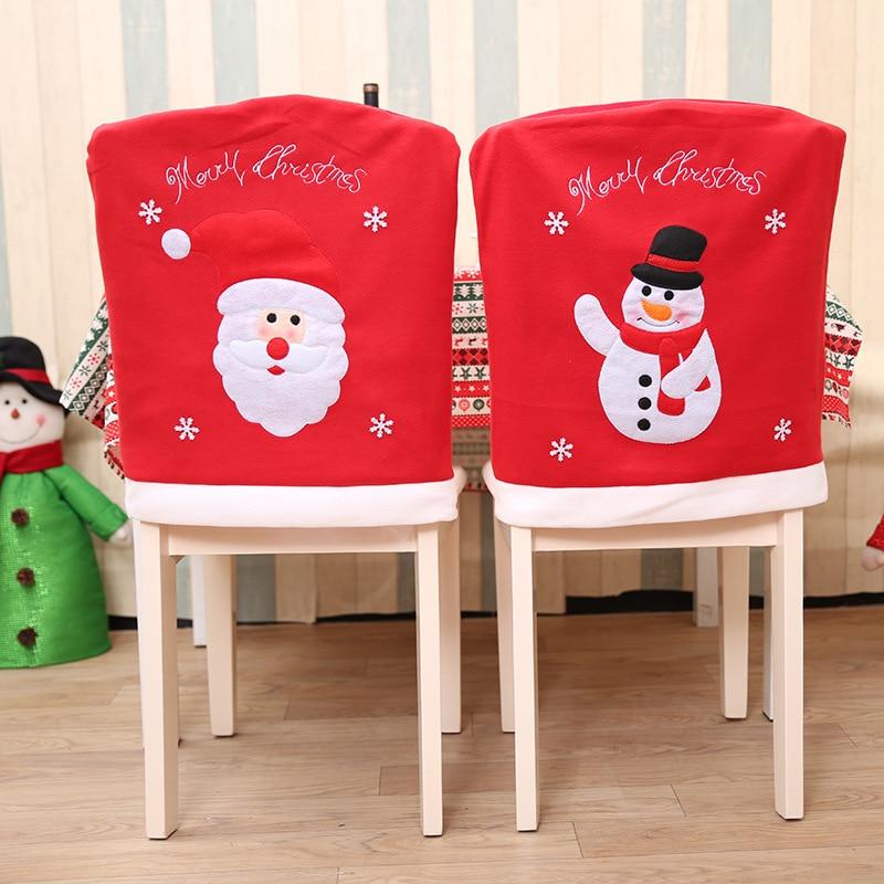 Decoraci n del hogar 1 paquete de decoraci n de navidad - Adornos navidenos para sillas ...