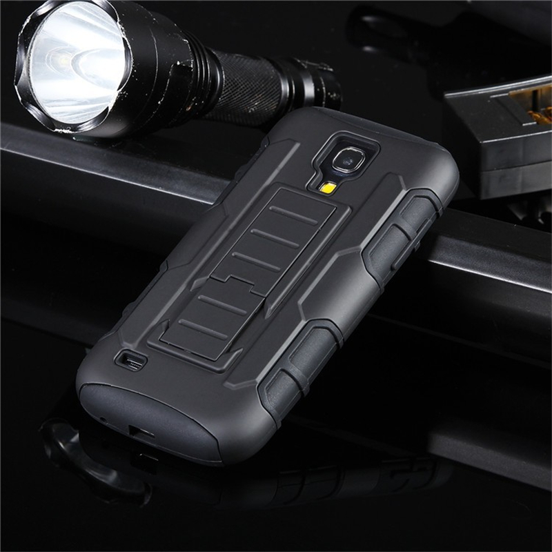 Coque Cases For Samsung Galaxy S3 S4 S5 Rugged Rubber Armor Robot Hybrid Impact With Stand Hard Shell with Belt Clip Capa