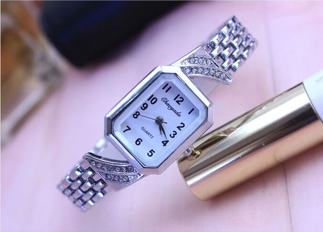 CYD Luxury Brand silver Women's Bracelet Watches Lady Waterproof Fashion Dress W
