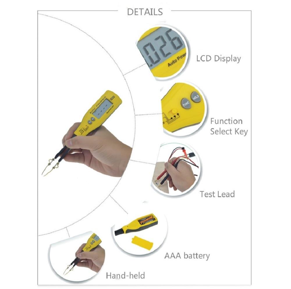tester resistência capacitância medidores teste de diodo