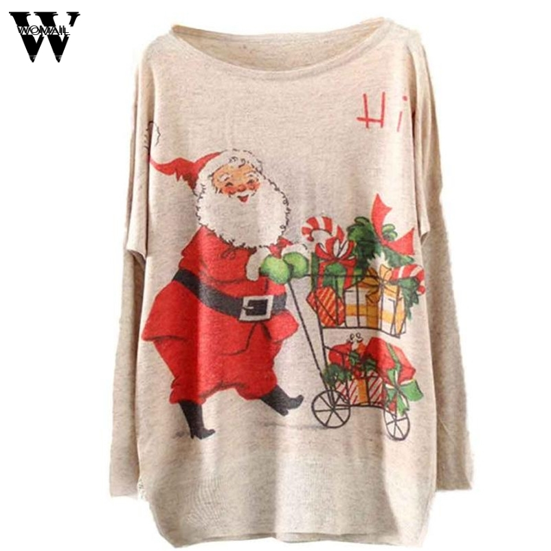 Womail Women 2017 Good Deal Winter Warm Knitting Christmas Sweater Batwing Knitted Long Sleeve Jumper Drop Shipping Gifts #A30