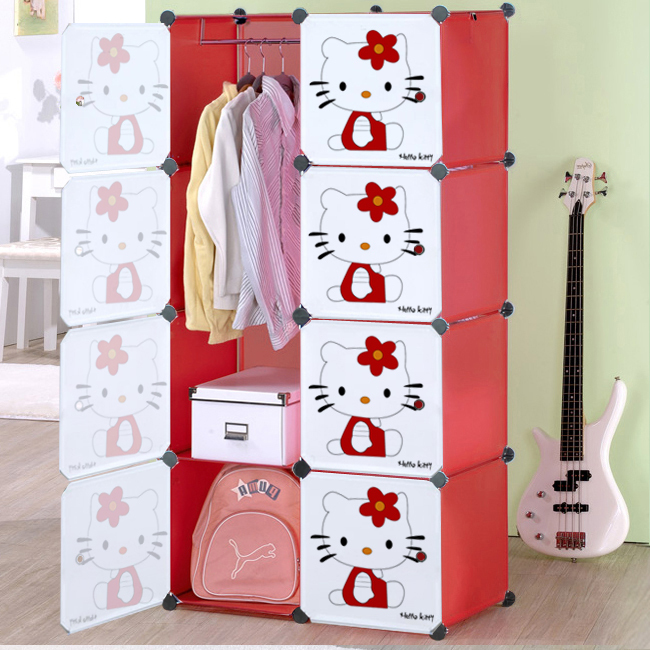child combined type simple wardrobe folding diy storage. Black Bedroom Furniture Sets. Home Design Ideas