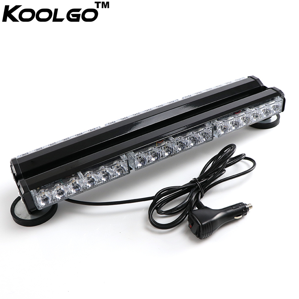 36 LED 108W Double Side Car Truck Flashing Strobe Work Light Bar Amber//White