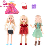 UCanaan Russia Girl Doll 14 Ball Jointed Body Realistic BJD Dolls Reborn Baby American Girl Toys for Girls 18 With Gift Box