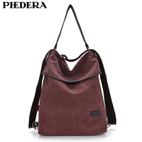 New 2015 Multifunction Women Backpack Retro Stylish Quality Washed Canvas Cloth High School Women Large Backpacks