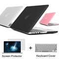 Best laptop Case For Apple macbook Pro 13 15 For Mac book 13.3 15.4 inch Pro with Retina + Keyboard Cover +Screen Protector