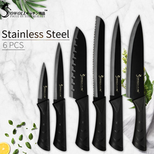 Sowoll Kitchen Knife Sets Japanese High Carbon Stainless Steel Knives Chef Slicing Bread Santoku Utility Paring Cook Tools