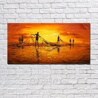 Handpaint Oil Painting Abstract Art Painting Modern Home Paintings For Living Room Wall Evening Scenery Modern Paintings NK360