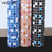 Bathroom Vinyl PVC Self Adhesive Wallpaper for Kitchen Backsplash Tiles Sticker Contact Paper Waterproof Home Decor Wall Papers(China)