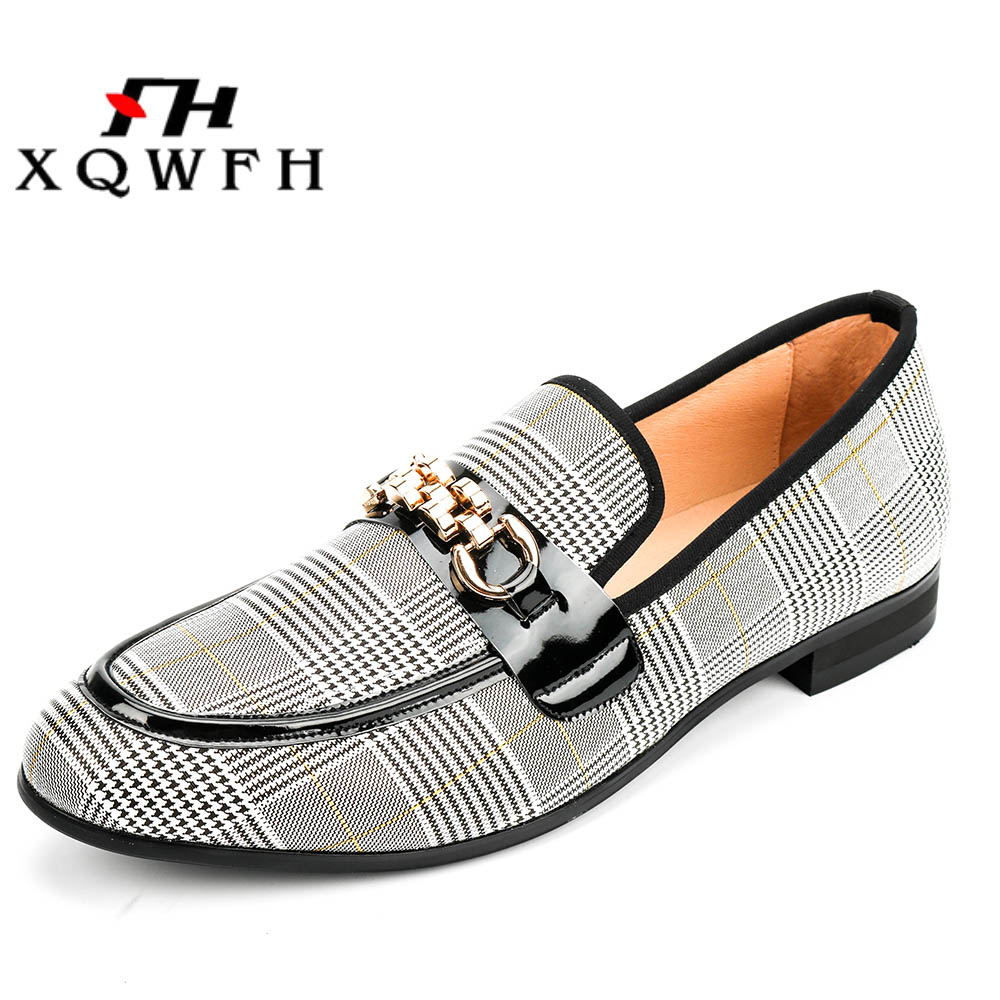 Chaussures Main White À La Mocassins Xqwfh Mode Robe Hommes Confortable Casual Respirant YxPXIPn51