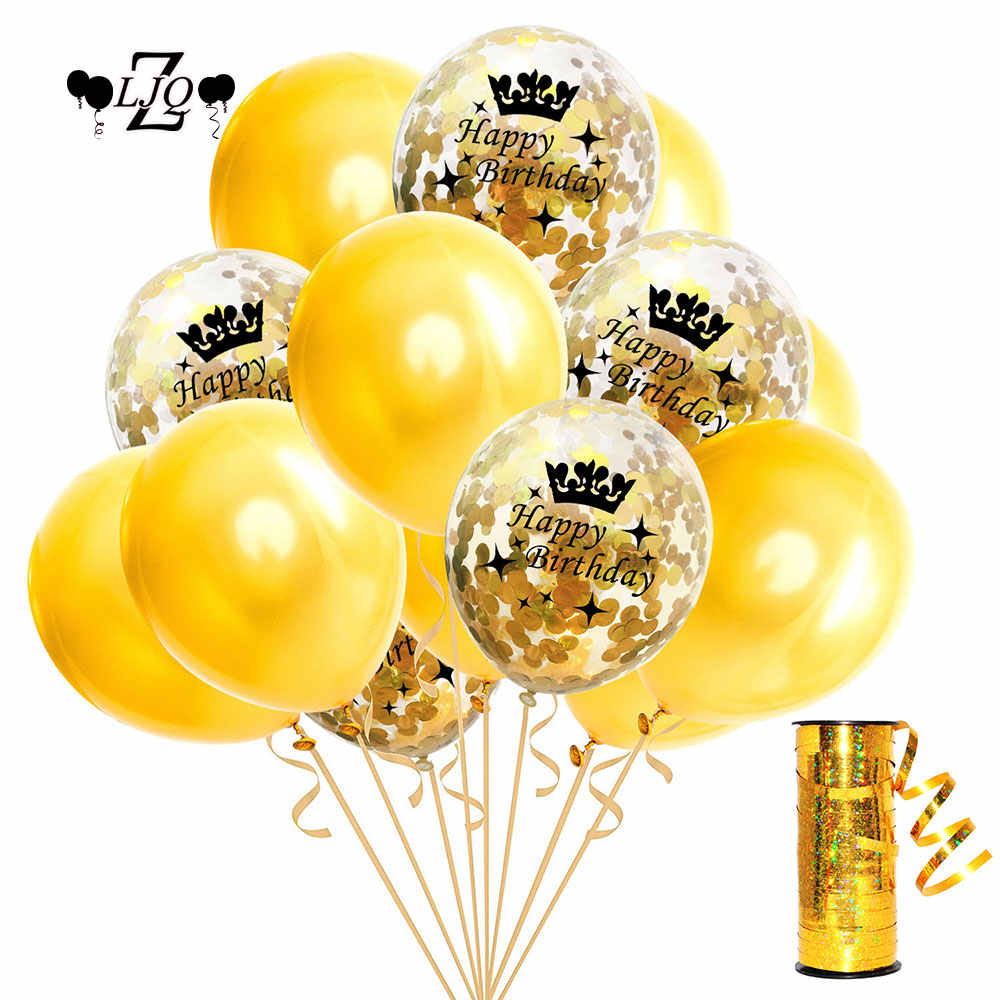 ZLJQ 30th 40th 50th Birthday Decoration Party Supplies 30 Year Old Balloon Rose Goldconfetti