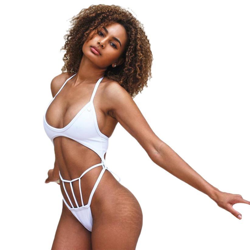 snowshine3 YLI Women Bikini Set Bandage Push-Up Padded Bra Swimwear Swimsuit Bathing