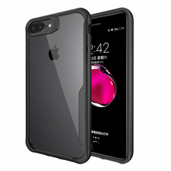 For Iphone 8 Case Iphone 8 plus case Luxury silicone frame + acrylic transparent back cover case for Iphone 8 7 7 plus 5