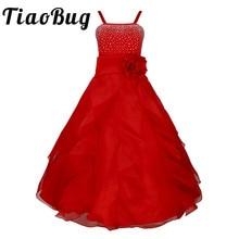 2020 yeni varış yaz çiçek prenses kız elbise parti düğün doğum günü kat uzunluk elbiseler kız elbise için Tutu balo elbise