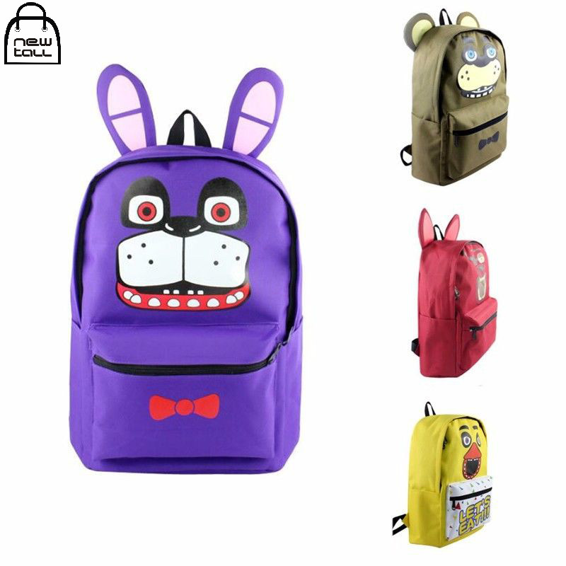 [NEWTALL] Five Nights at Freddy's Freddy Chica Foxy Bonnie Cartoon Character Shoulder Bag FNAF Backpack School Bag 17032920
