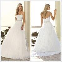Wedding Dresses 2016 Vestido De Noiva romantic sweetheart pleat sash organza prom gown bride dress robe de mariage HS557