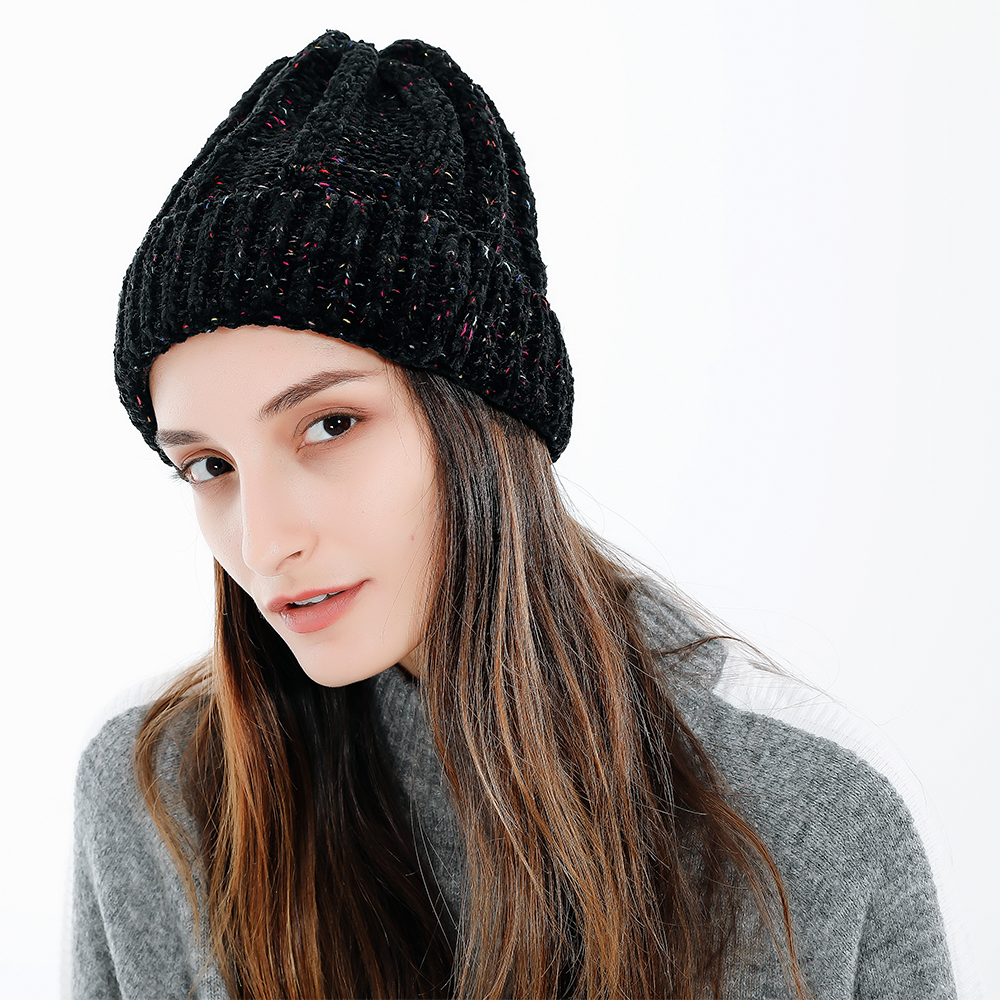 39510717a US $9.98 30% OFF|FS Orange Wool Knitted Beanie Winter Hat Women Warm Cap  Skully Trendy Chunky Soft Stretch Cable Slouchy Beanies Ski Caps 2018-in ...