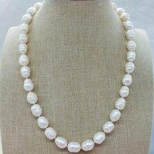 11-12 мм жемчужное ожерелье в стиле барокко с настоящей морской водой 50 см(есть недостатки