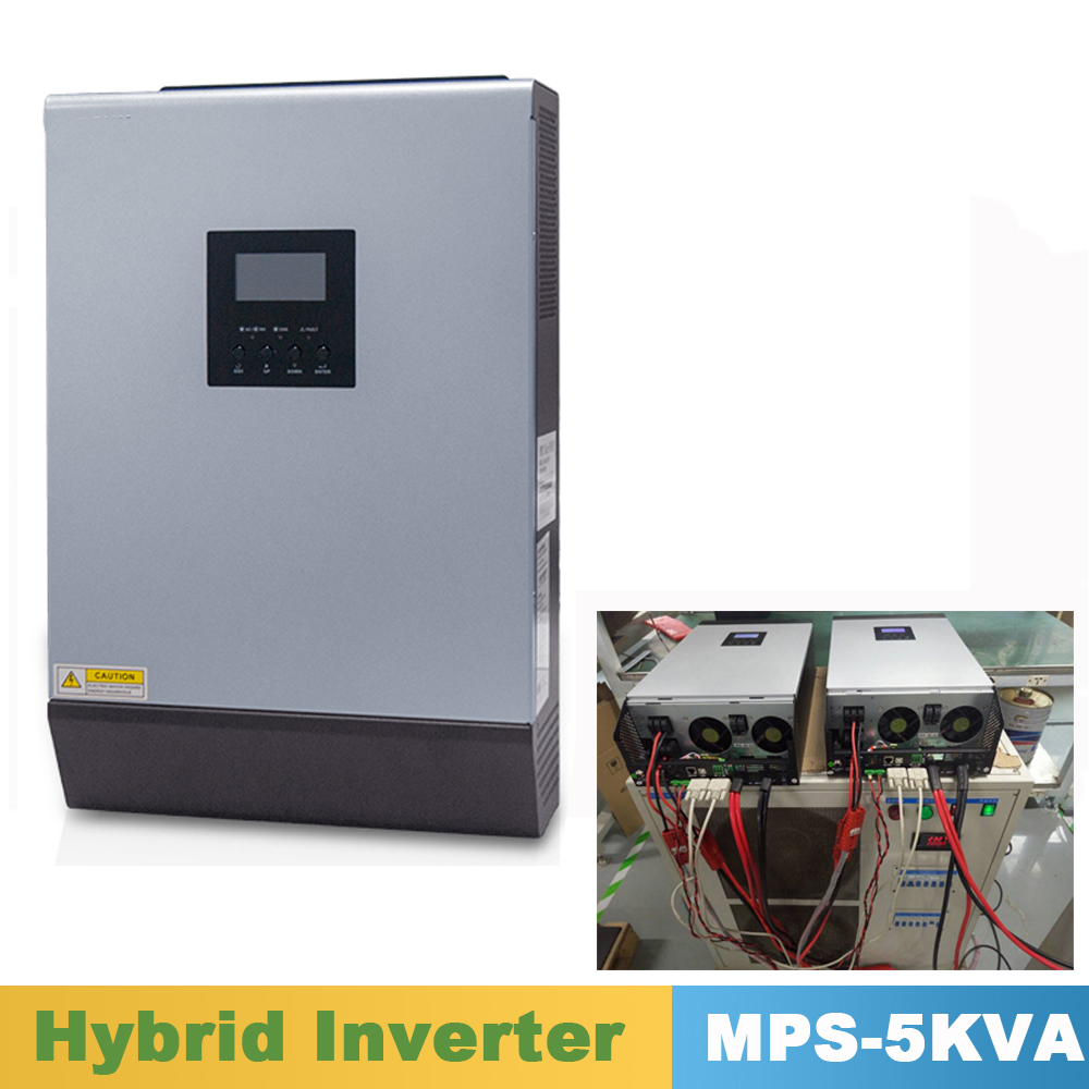 цена на 5000VA 4000W Pure Sine Wave Hybrid Inverter Parallel Kit Inside 48VDC Input 220VAC Output with MPPT Solar Charger Controller 60A