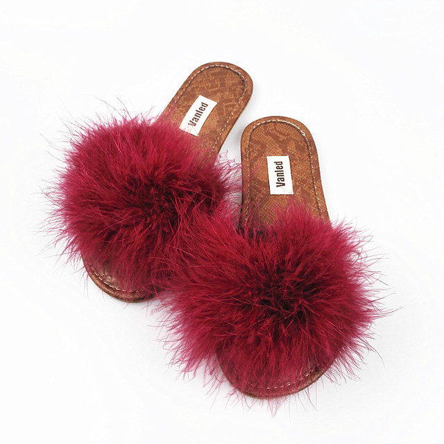 VANLED 2017 New Fashion Spring Summer Autumn 5 Colors Home Plush Slippers Women Indoor\ Floor Flat Shoes Free Shipping