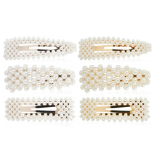 6 Pcs A Small Clip Of Fresh And Pure Color Pearl Hair Barrette Bobby Pin Artificial Alligator Accessories For Women