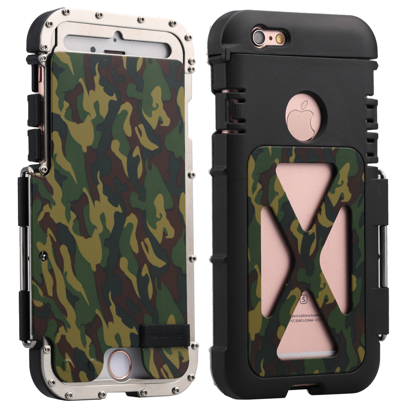Luxury Doom Metal Armor Shockproof Aluminum Cover Case for Apple iphone 6 6S 7 8 Plus X XR XS MAX Iron Man Steel Flip Case