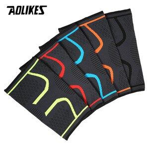 Image 4 - 1PCS Fitness Laufen Radfahren Knie Unterstützung Hosenträger Elastischen Nylon Sport Compression Knie Pad Hülse für Basketball Volleyball