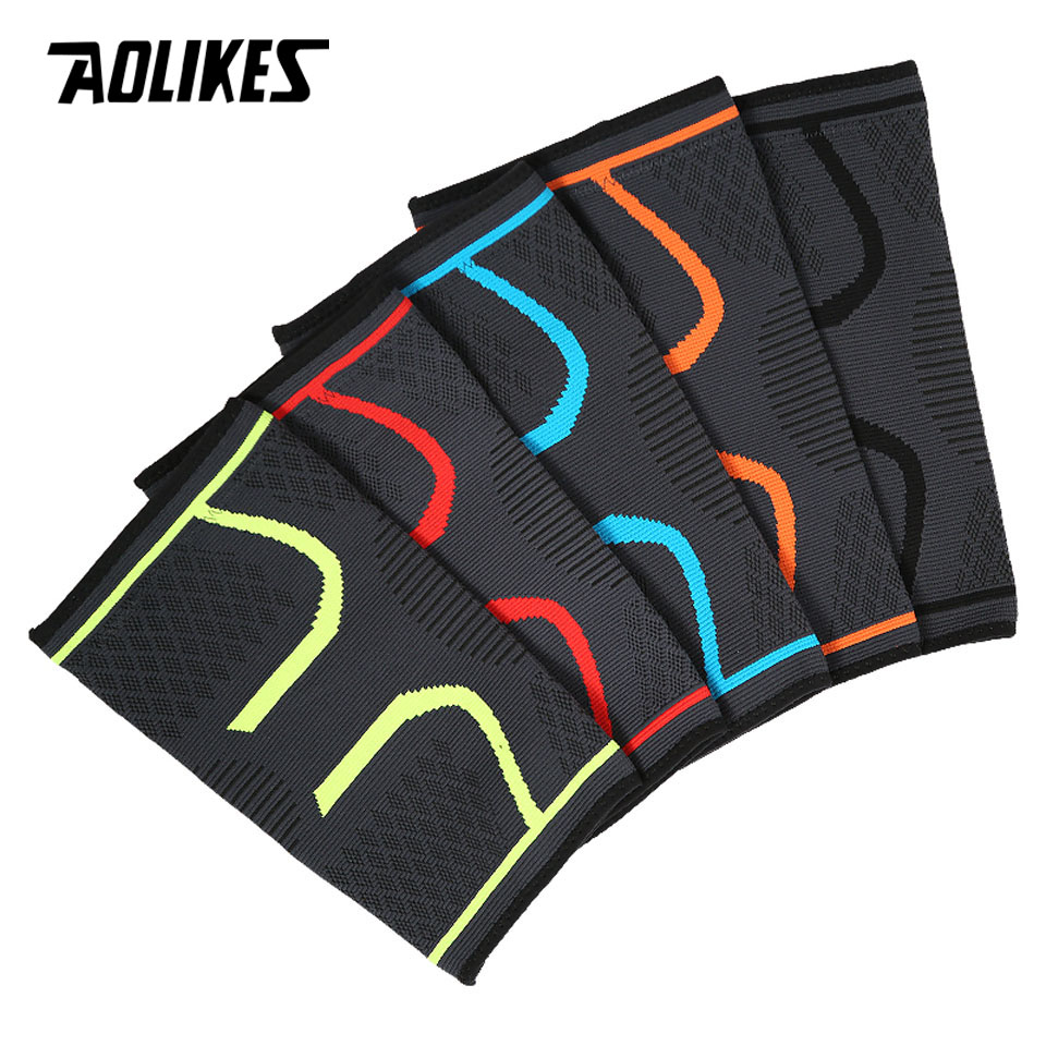Image 4 - 1PCS Fitness Running Cycling Knee Support Braces Elastic Nylon Sport Compression Knee Pad Sleeve for Basketball Volleyball-in Elbow & Knee Pads from Sports & Entertainment