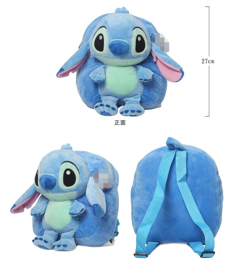 Candice guo plush toy stuffed doll cartoon funny movie Lilo Stitch Satchel backpack bag shoulder schoolbag package baby gift 1pc candice guo super q cartoon chubby hamster squirrel plush toy doll backpack shoulder bag birthday gift 1pc