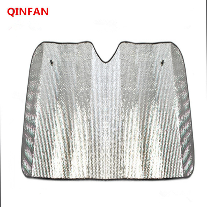 130 * 60cm Anti-Ultraviolet Reflective Aluminum Foil Windshield Sunshade 100% Sunlight Refraction