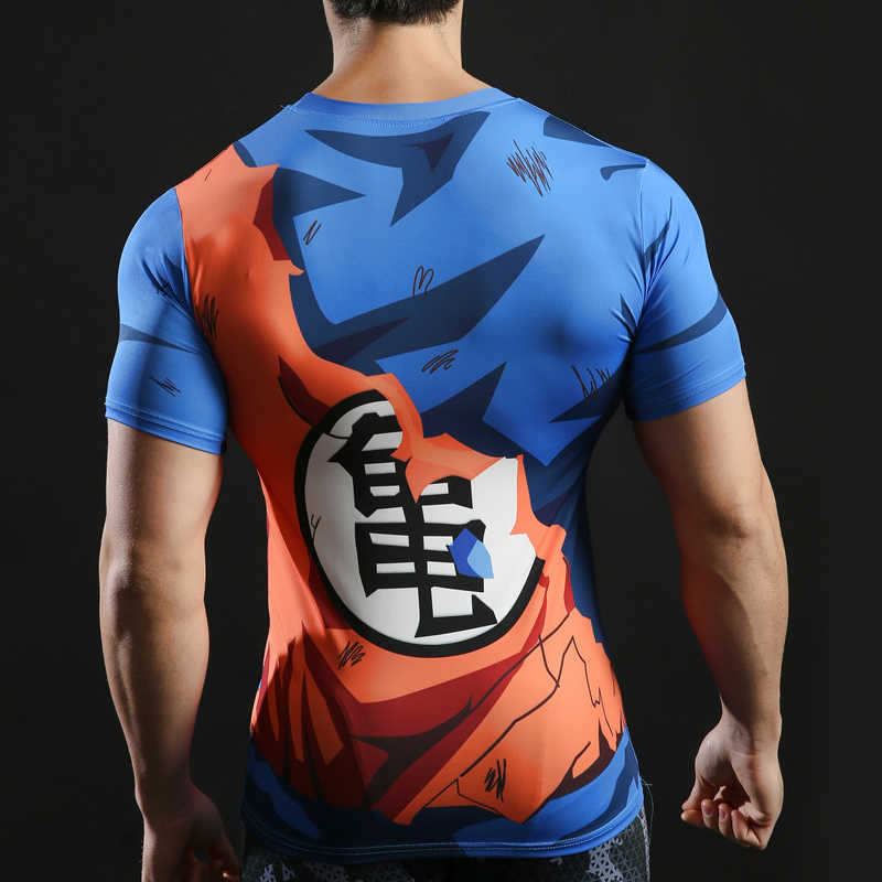 Dragon Ball футболка 3D мужская футболка аниме комиксы утягивающие футболки Goku Ball Z Футболка Мода 2018 поло Веджета