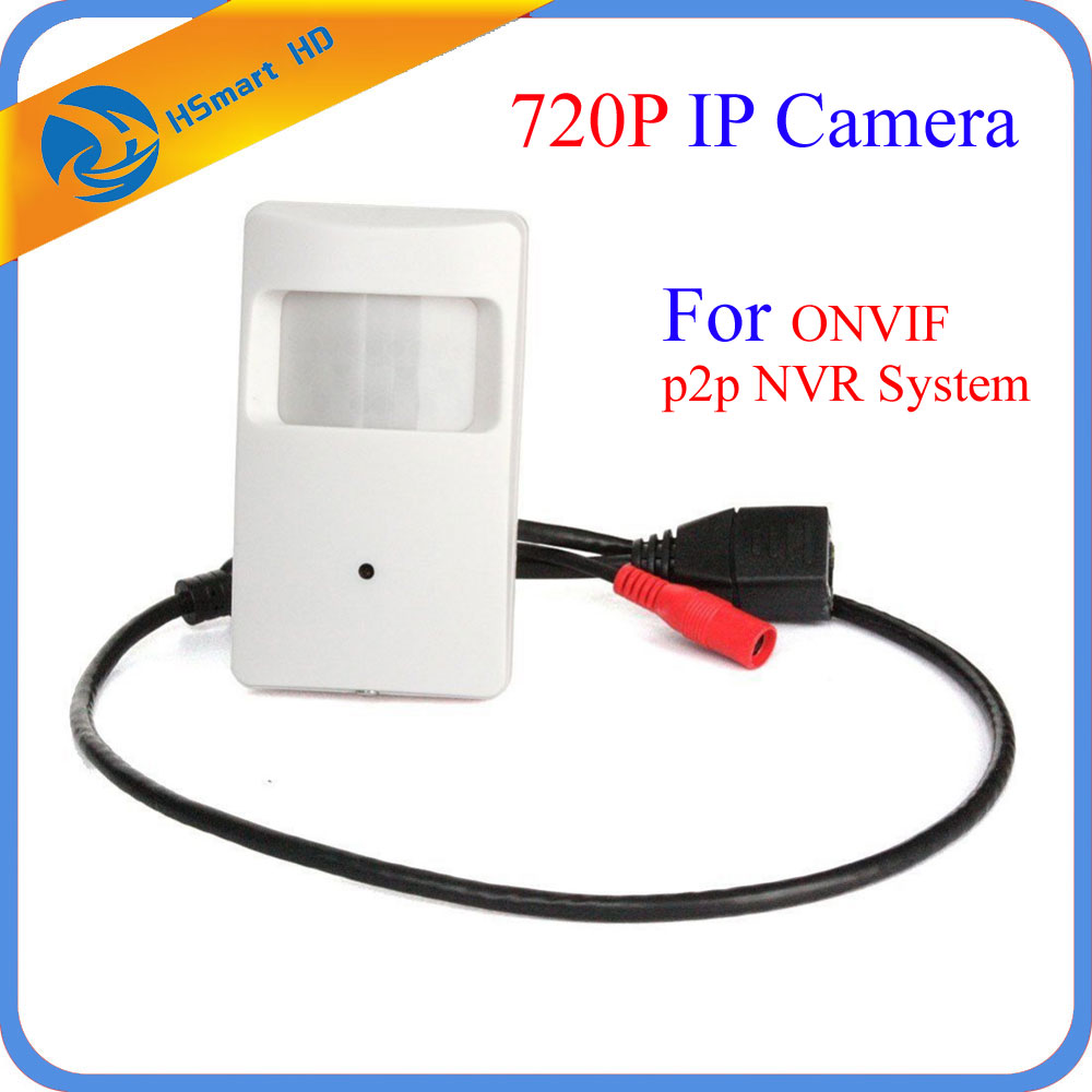 New HD 720P Mini Camera Motion Detector HD PIR STYLE CCTV IP Camera 3.7mm Lens Mini Ip Camera P2P Security For ONVIF NVR System 720p hd 3 7mm lens mini cctv surveillance cmos ip camera onvif p2p webcam motion detection
