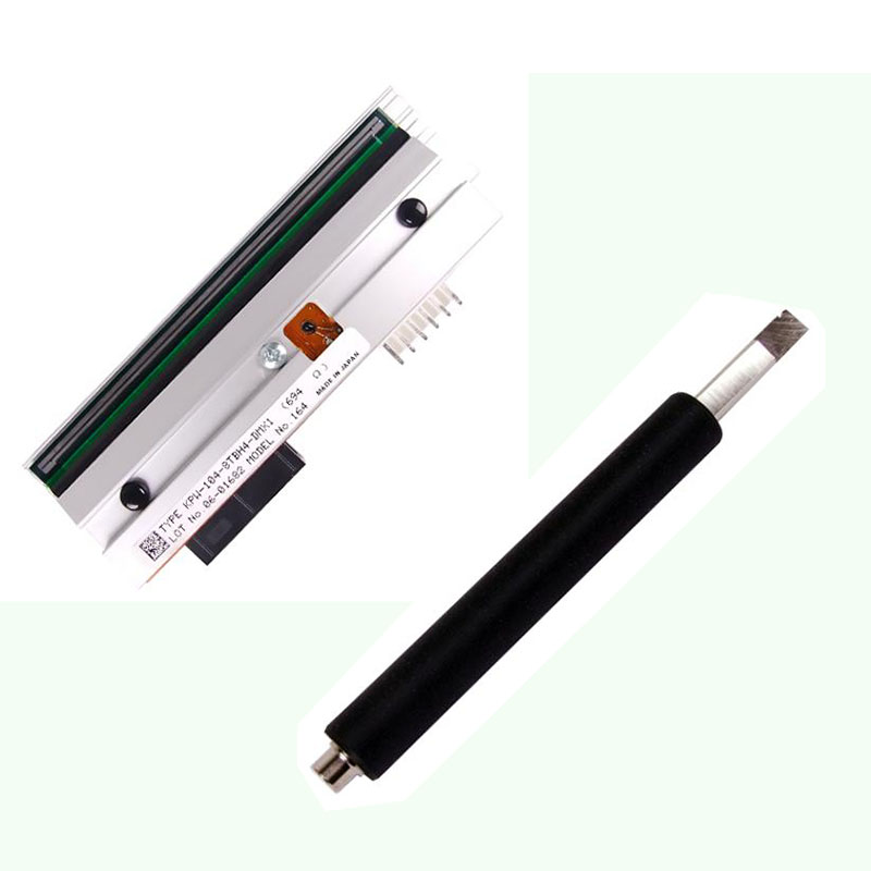 PHD20-2181-01 Compatible New Printhead+new Style Rubber Roller For datamax i4208 i-4208 Thermal Barcode Label Printer Parts new thermal print head printhead compatible for datamax i4206 i4208 i 4206 i 4208 thermal barcode printers 20 2181 01 203dpi