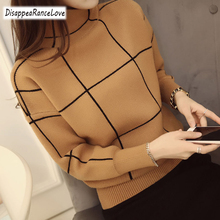 Disappearancelove 2019 High quality winter turtleneck sweater thickening pullover women Female Jumper Tops
