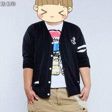 Sea Cloud Free shipping plus size plus size 8xl Cotton chain cardigan European & American style black v-neck long-sleeve sweater