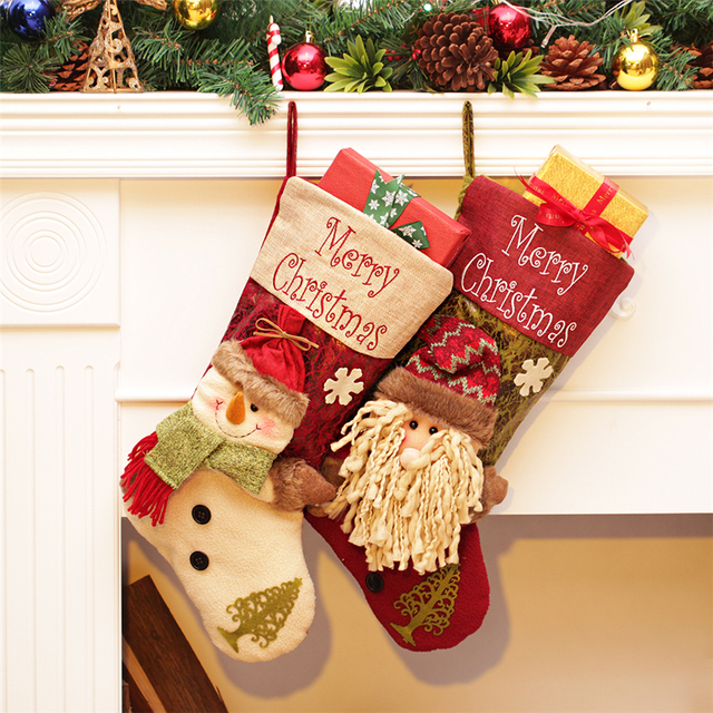 Personalized Christmas Gifts.Us 11 9 2016 New Design Christmas Tree Ornaments Large Christmas Stocking Filler Personalized Christmas Gifts Bag Christmas Decorations In Stockings