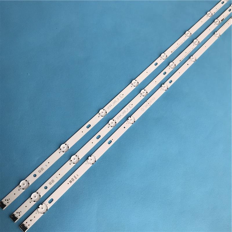New LED Backlight Strip 8 Lamp For LG Innotek Direct 43inch UHD 1Bar 24EA Type UF64_UHD_A 43UH610V 43UH6030 43LH5700 43LH60FHD