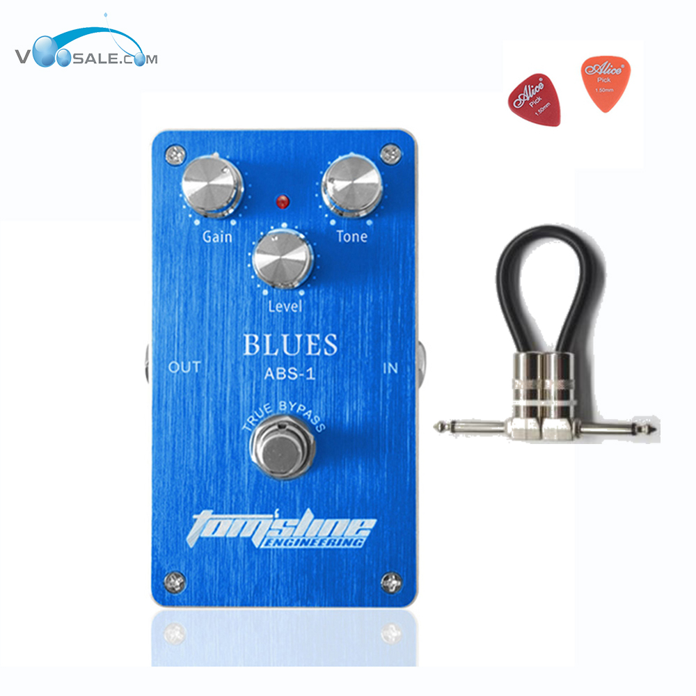 ABS-1 Blues Premium Analogue Guitar Effect Pedal Aroma Aluminum Alloy Housing True Bypass With 3 Adjustable Knobs + Free Cable mooer ensemble queen bass chorus effect pedal mini guitar effects true bypass with free connector and footswitch topper