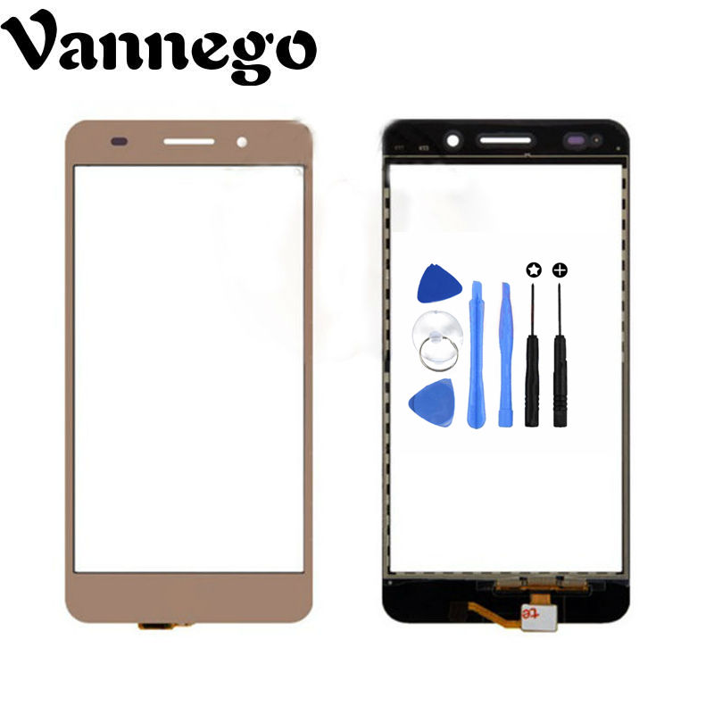 Vannego New Front Glass Lens Panel Touch Screen Digitizer Replacement For Huawei Y6 Ii Y6ii +tools