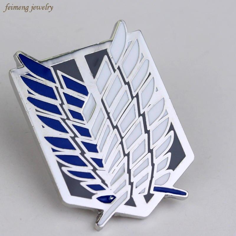 New Fashion Japan font b Anime b font Jewelry Attack On Titan Pins Brooch Legions Badge
