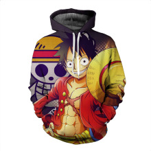 Monkey D Luffy Ace Sabo Battle 3D Print Pullover Sweatshirt Hoodie