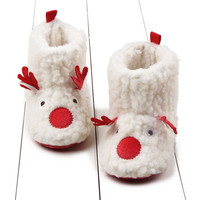 0 12 Months Plush Elk Baby Toddler Shoes Winter Short Paragraph Baby Deer Baby Shoes Neonatal