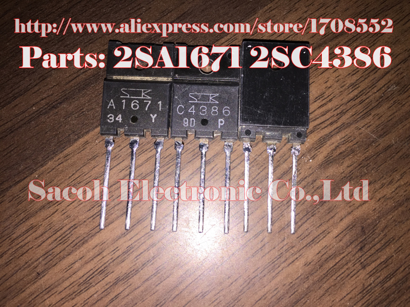 Paar 2sa1671+2sc4386 Transistor To-3pf