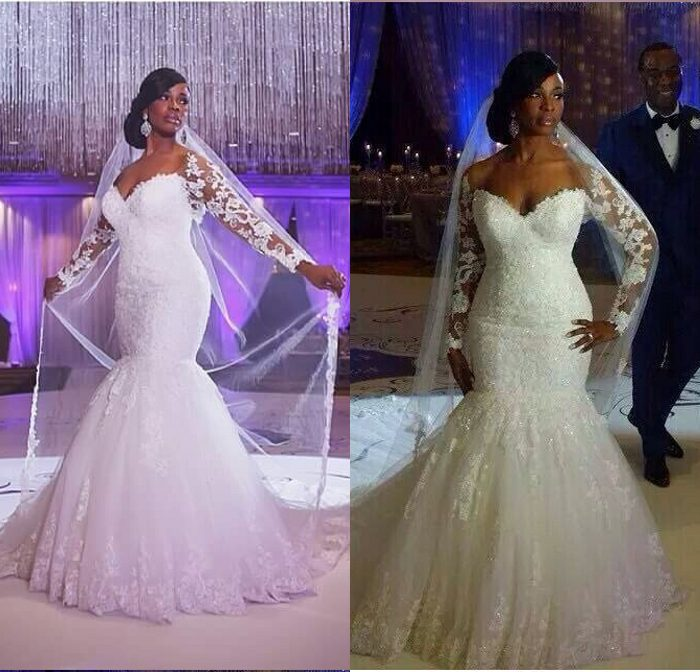 Wedding Gowns In South Africa: South Africa Hot Sale Shine Lace Appliqued Sweetheart Long