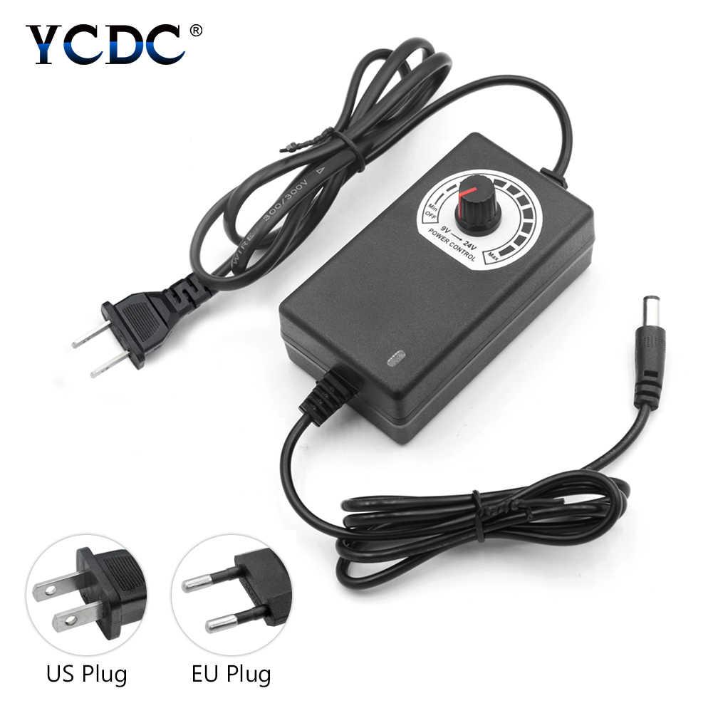 Регулируемый AC к DC 3 V-12 V 9 V-24 V Универсальный адаптер напряжение Регулируемый блок питания adatpor 3 12 24 v для светодиодной ленты камеры видеонаблюдения