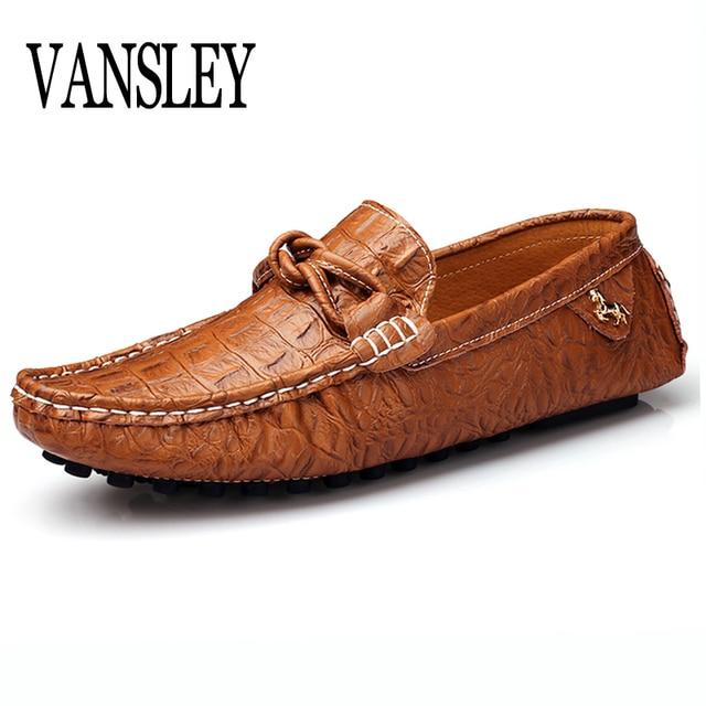 Mùa hè Mùa Thu Slip-On Nam Giày Da Nam Chính Hãng Leather Shoes Luxury Thương Hiệu Đàn Ông Giày Thiết Kế Căn Hộ Người Đàn Ông Giày Thuyền