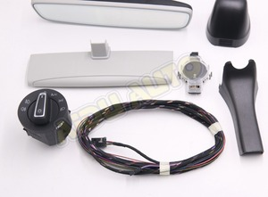 Image 2 - Auto headlight switch+Rain Light Wiper Sensor Anti glare Dimming Rear View Mirror For VW Golf 7 MK7