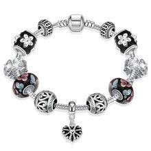 Jemmin 925 plata esterlina del encanto del corazón para las mujeres DIY Murano Cuentas moda mujer joyería pulsera clásico